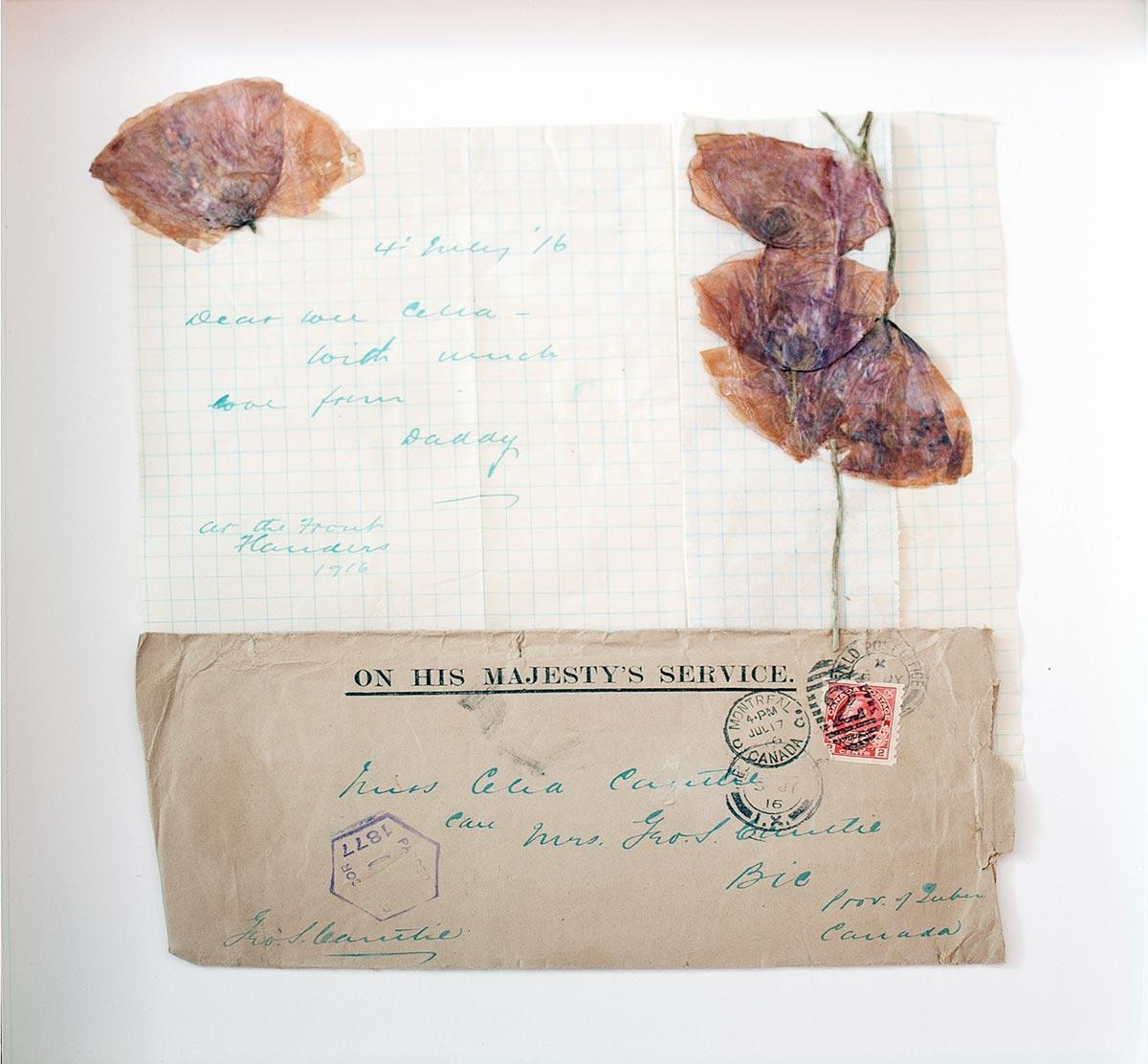 Repos éternel - lettre | Fleurs d'Armes - Une exposition artisitique itinérante | www.fleursdarmes.ca