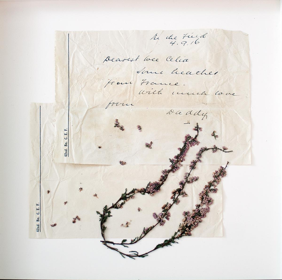 Solitude - lettre | Fleurs d'Armes - Une exposition artisitique itinérante | www.fleursdarmes.ca
