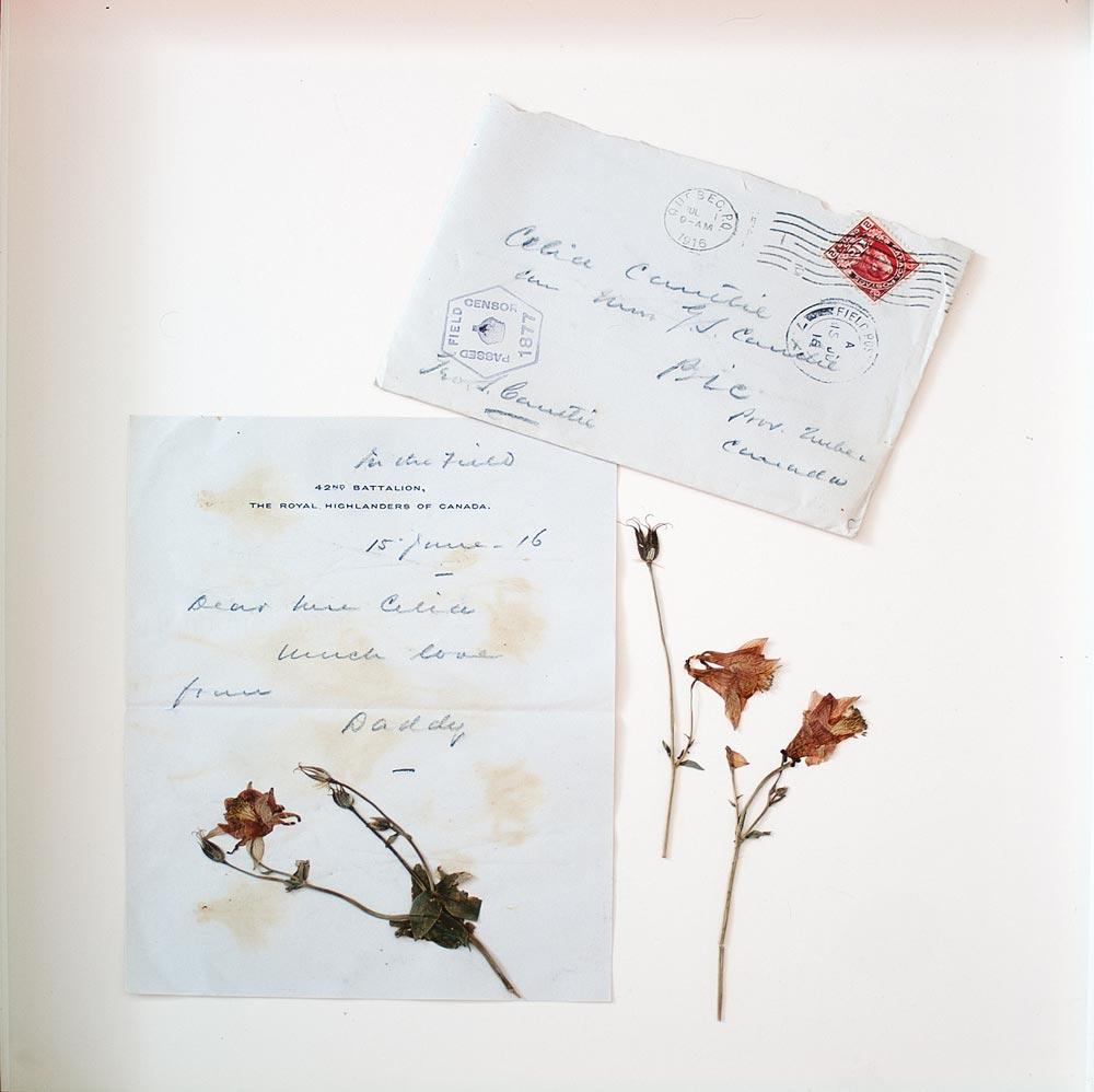 Soif de victoire - lettre   Fleurs d'Armes - Une exposition artisitique itinérante   www.fleursdarmes.ca